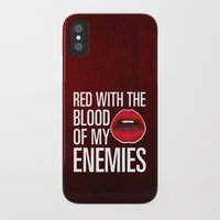 lipstick iPhone & iPod Cases featuring Lipstick by Kris Hawkins