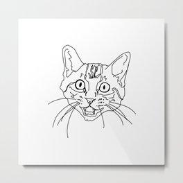 That Face My Cat Makes Metal Print