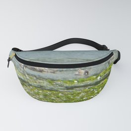 Swans Around Lily Pads Fanny Pack