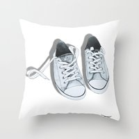 converse Throw Pillows featuring Converse by BlendByEli