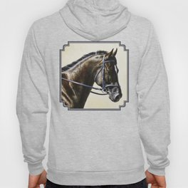 Dark Bay Dressage Horse Portrait Hoody