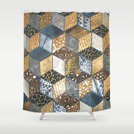 Tumbling Blocks #2 Shower Curtain
