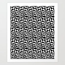 Symetric triangle 8 -vichy, gingham,strip,triangle,geometric, sober,tartan,mandala Art Print