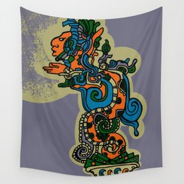 Mythical Quetzalcoatl Wall Tapestry