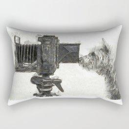 Pho Dog Grapher Rectangular Pillow
