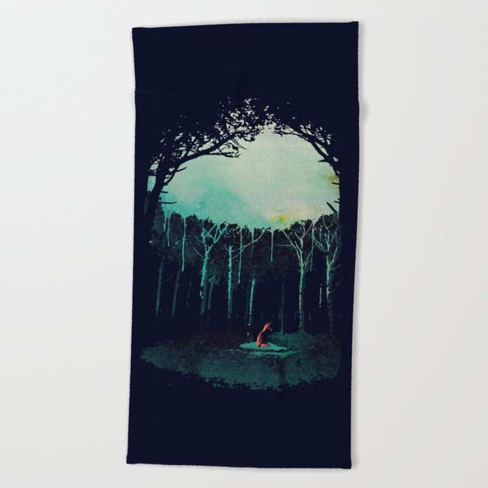 Deep in the forest Beach Towel