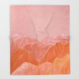 Lines in the mountains - pink II Throw Blanket