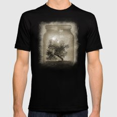 Saving Nature. LARGE Black Mens Fitted Tee