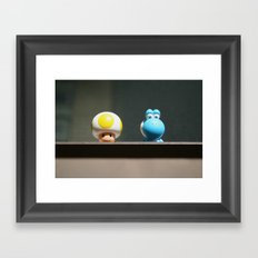Yellow and Blue Framed Art Print