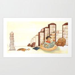 Reading Boy by Emily Winfield Martin Art Print