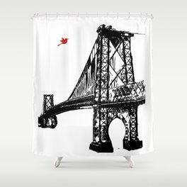 The Williamsburg Bridge in New York City Shower Curtain