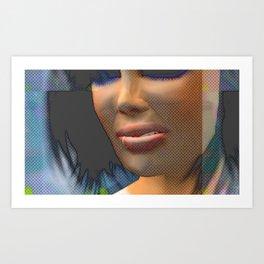 Lips Disdained, 2008 Art Print