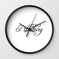 pittsburgh Wall Clocks featuring Pittsburgh by Blocks & Boroughs