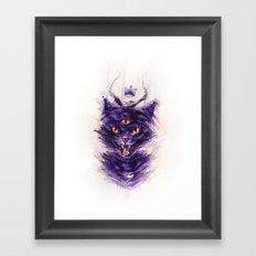 threeeyed cat Framed Art Print