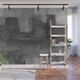 Paint Texture (Black and White) Wall Mural