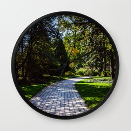 Pathway to the middle of nowhere Wall Clock
