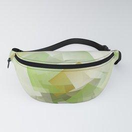 Geometric Stacks Green Fanny Pack