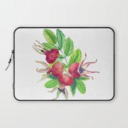 dog-rose watercolor botanical illustration Laptop Sleeve
