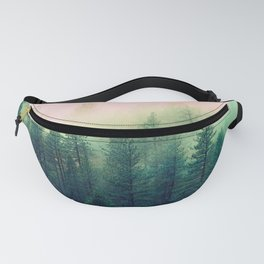 Watercolor mountain landscape Fanny Pack