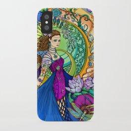 Peacock Goddess iPhone Case