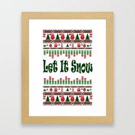 Let it snow for Xmas Framed Art Print
