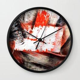 Trame Orange Wall Clock