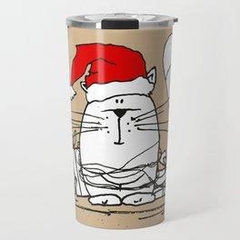 Cute Little X-mas Kitty Cat Travel Mug