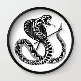 black king cobra pattern ecopop Wall Clock