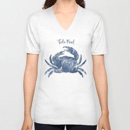 Crab Tide Pool habitat Unisex V-Neck
