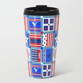 4th July Patchwork Travel Mug