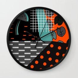 Dark autumn decor Wall Clock