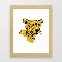 Cheetah portrait Framed Art Print