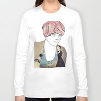 introvert Long Sleeve T-shirts featuring introvert girl by Katharina Nachher