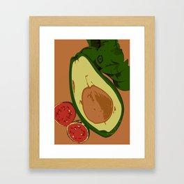 Avocado and guavas Framed Art Print