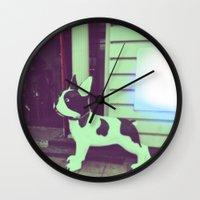 puppy Wall Clocks featuring Puppy by Karolis Butenas