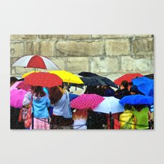 Standing in a Pouring Rain Canvas Print