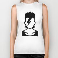 bowie Biker Tanks featuring Bowie  by triangle.cross