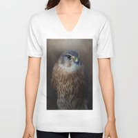 merlin V-neck T-shirts featuring The Merlin by Pauline Fowler ( Polly470 )
