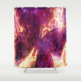 Electric Butterfly 01 Shower Curtain