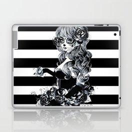 Black & White Sugar Skull Girl Laptop & iPad Skin
