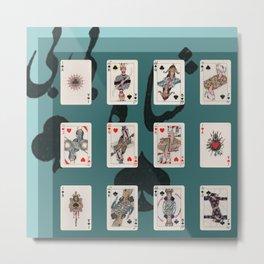 Persian Playing Cards Metal Print