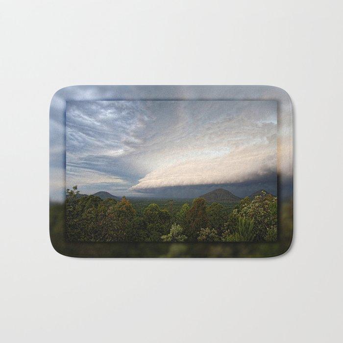 Storm clouds over Australian landscape Bath Mat