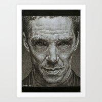 benedict cumberbatch Art Prints featuring Benedict Cumberbatch by Bungle