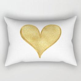 Gold Glam Glitzy Heart Rectangular Pillow