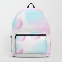 Rainbow Balls Sweet Candy Pastel Color // Transparent Background  Backpack