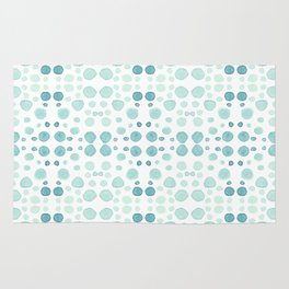 Dots, dots and more dots - blue, green & turquoise Rug