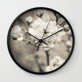 Petals Soft as Pearls Wall Clock