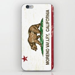 Moreno Valley California Republic Flag Distressed iPhone Skin