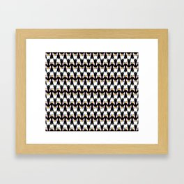 Rainbow Bully repeat pattern (small) on a black background Framed Art Print