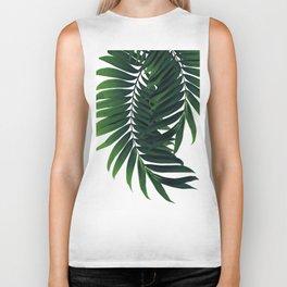 Palm Leaves Tropical Green Vibes #2 #tropical #decor #art #society6 Biker Tank